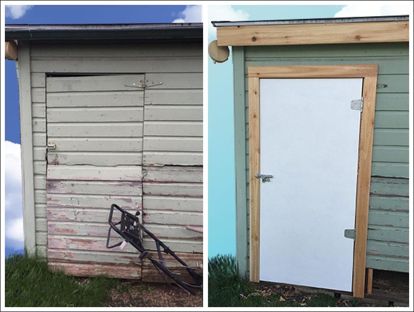 Outdoor Wood Shed Repair - Bob Barron-The Door Wizard