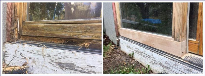Sliding Porch Door Wood Trim Repair - Bob Barron-The Door Wizard